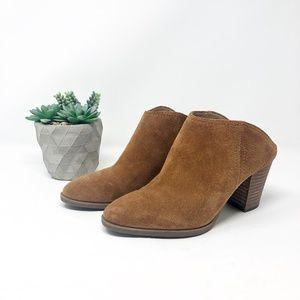Franco Sarto Womens Suede Clogs Brown Size 7.5